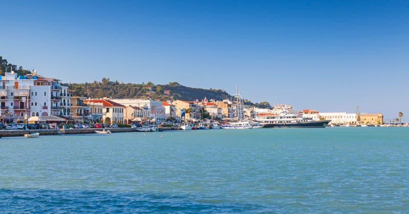 Orizzonte di Zante, isola greca immagine stock libera da diritti