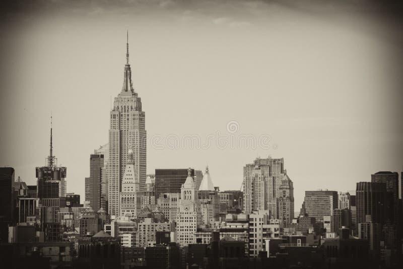 Orizzonte e grattacieli di New York City Manhattan fotografia stock
