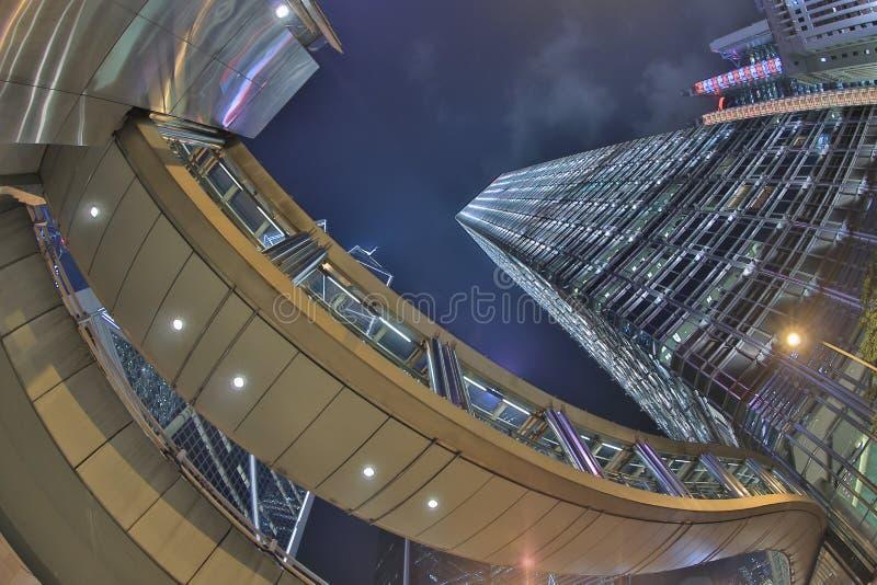 Orizzonte e traffico di Hong Kong a vicino immagini stock libere da diritti