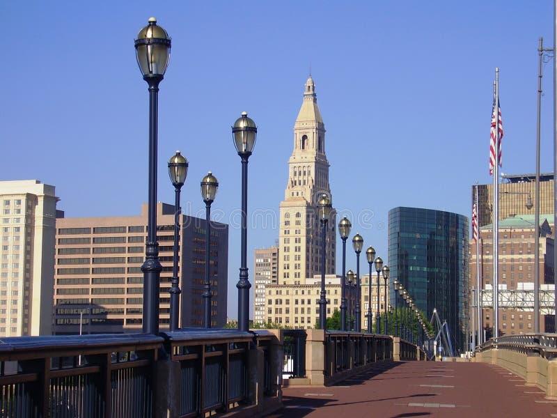 Orizzonte, Hartford Connecticut fotografie stock libere da diritti
