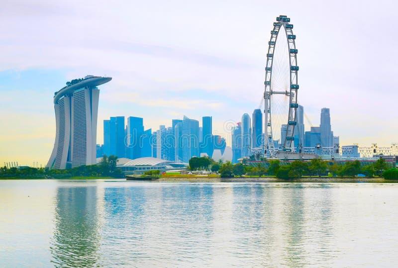 Orizzonte iconico di Singapore fotografie stock