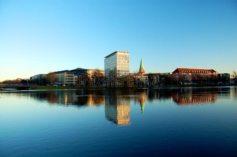 Orizzonte Kiel, Germania immagini stock libere da diritti