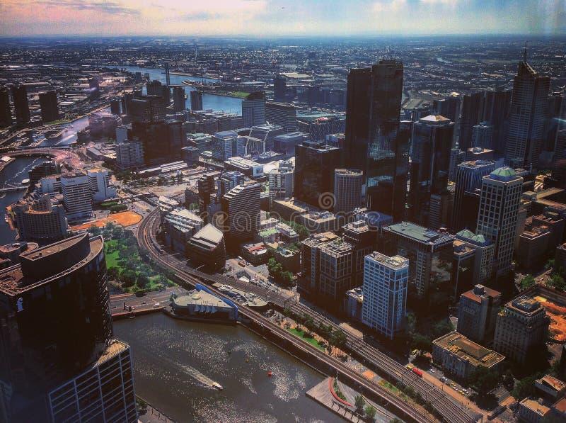 Orizzonte Melbourne fotografia stock libera da diritti