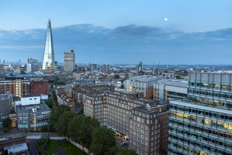 Orizzonte panoramico di tramonto della città di Londra, Gran Bretagna fotografie stock