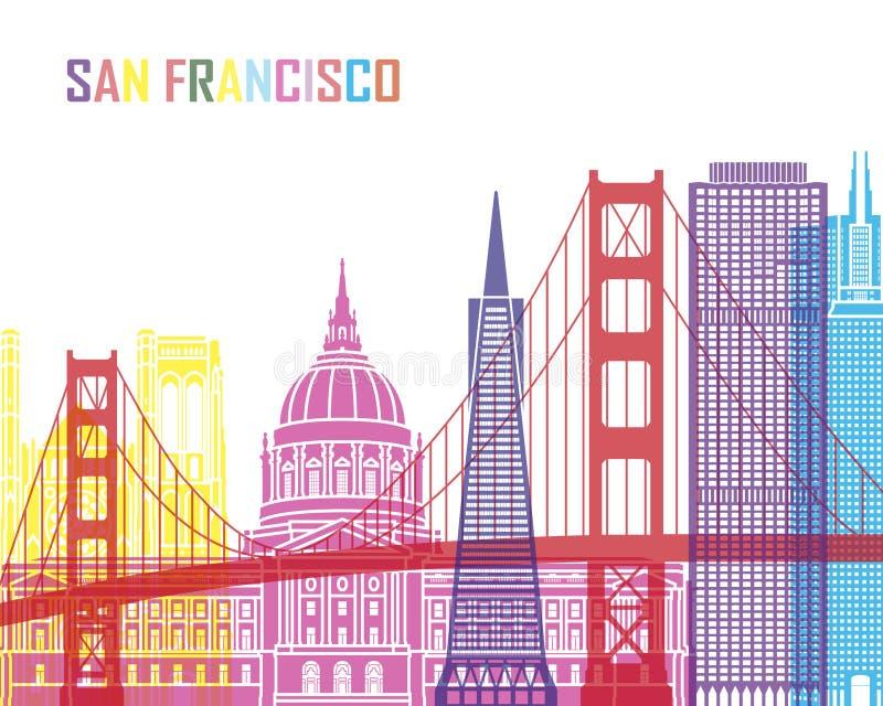 Orizzonte pop_V2 di San Francisco royalty illustrazione gratis
