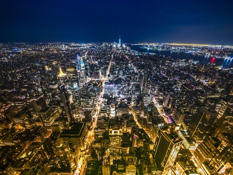 Orizzonte recente di tramonto di New York immagine stock