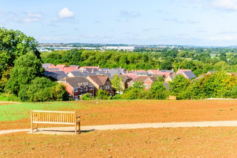 Orizzonte Regno Unito di paesaggio urbano di Northampton Town immagini stock
