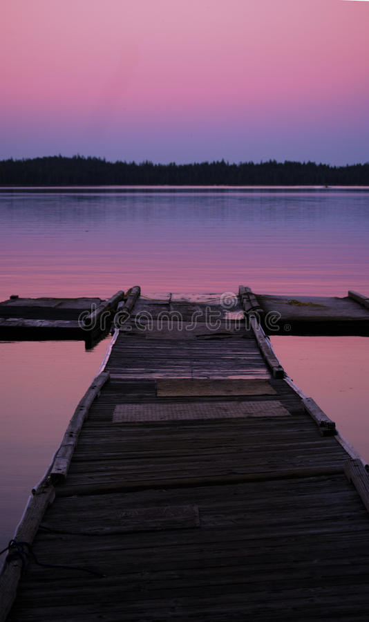 Orizzonte rosa fotografie stock libere da diritti