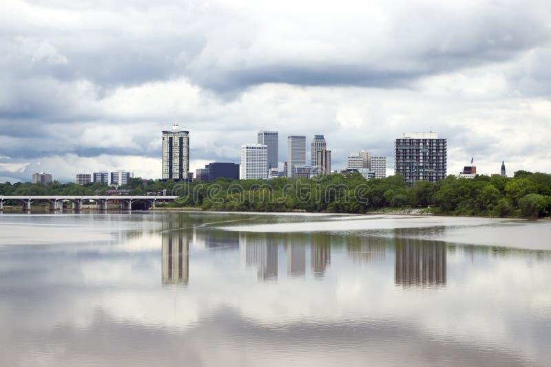 Orizzonte tempestoso di Tulsa fotografia stock libera da diritti