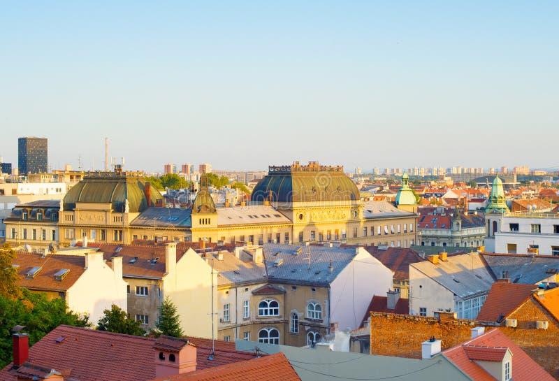 Orizzonte Zagabria Città Vecchia Croazia immagine stock