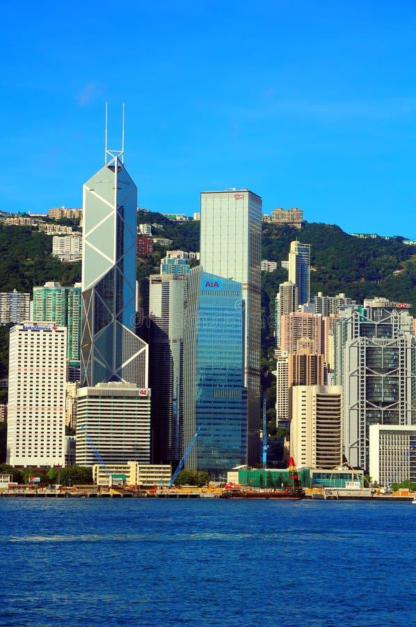 Orizzonti di Hong Kong fotografie stock libere da diritti