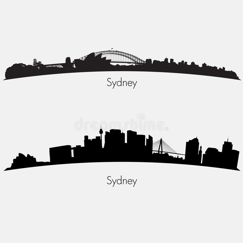 Orizzonti di Sydney illustrazione di stock