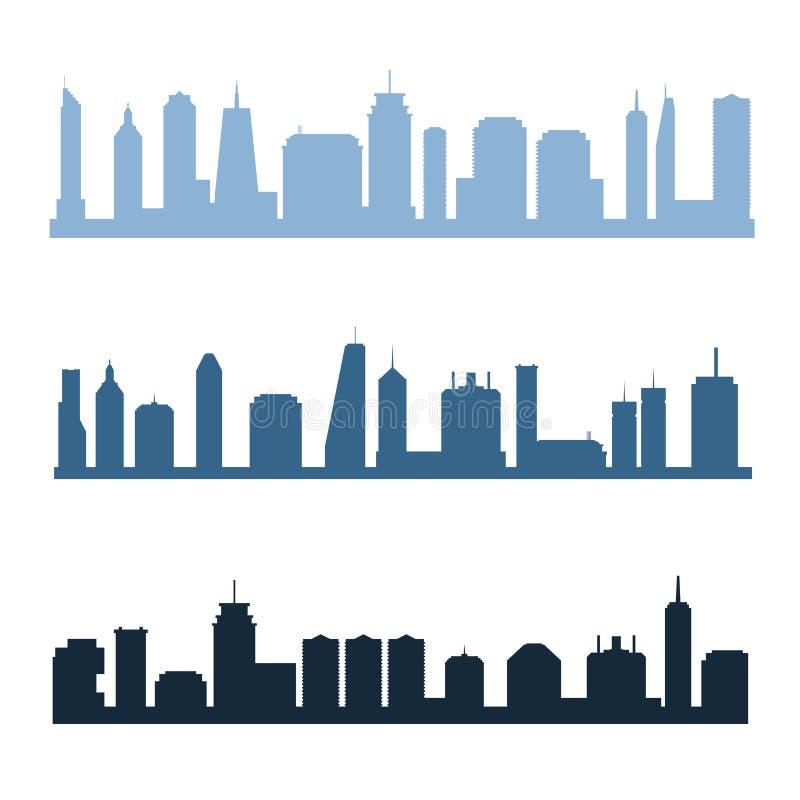 Orizzonti generici della città illustrazione vettoriale