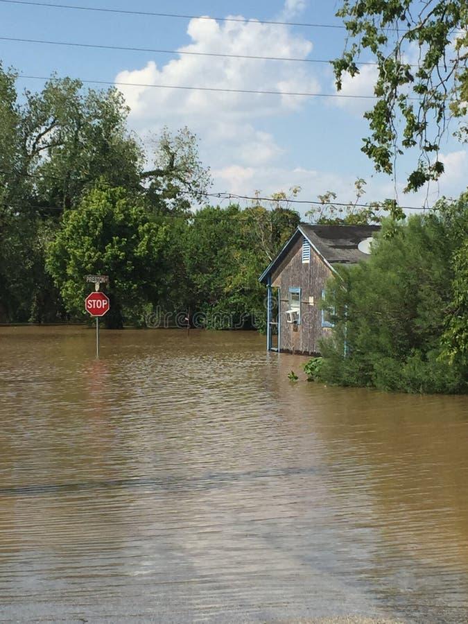 Orkaan Harvey Aftermath stock afbeelding