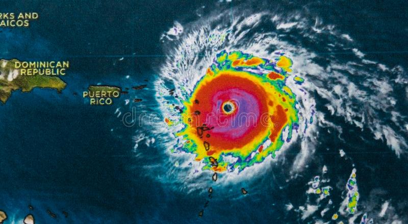 Orkaan Irma stock afbeelding