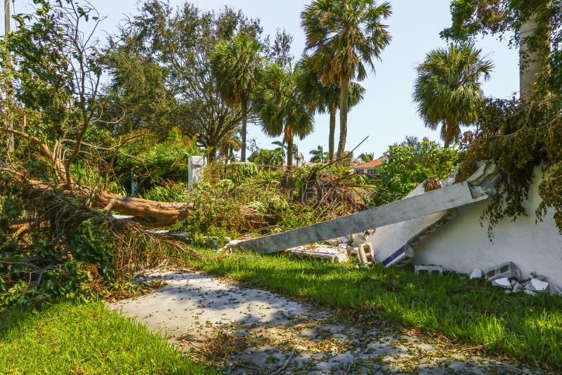 Orkaan Irma Damage stock foto