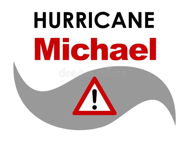 Orkaan Michael royalty-vrije illustratie