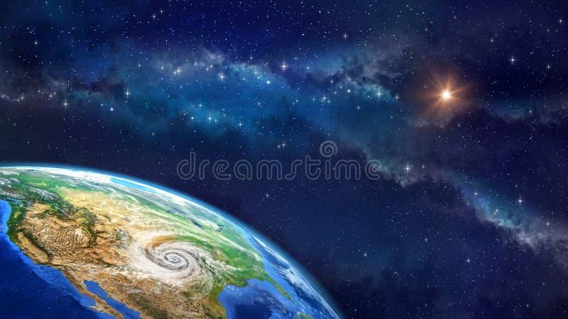 Orkaan over de Aarde vector illustratie