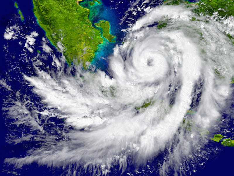 Orkaan over Zuidoost-Azië vector illustratie