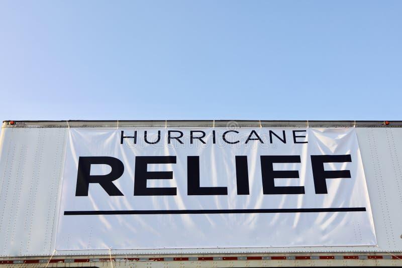 Orkaanhulp voor Irma en Harvey Victims stock foto
