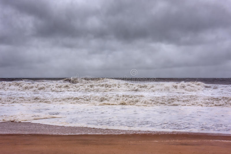 Orkan Sandy Approaches New Jersey Shore arkivfoto