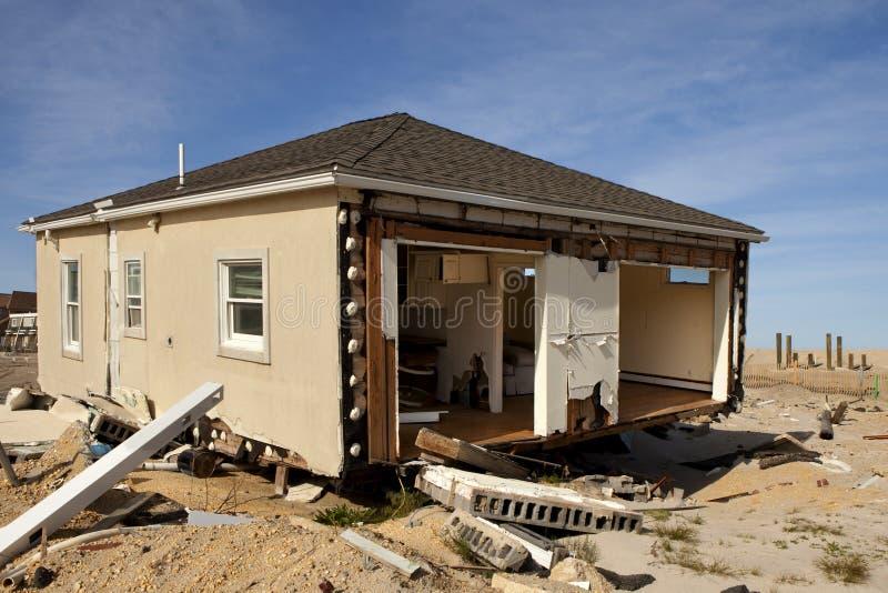 Orkan Sandy Damage royaltyfria bilder