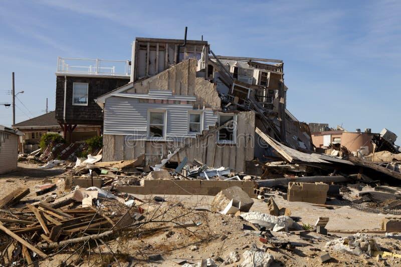 Orkan Sandy Damage arkivbilder