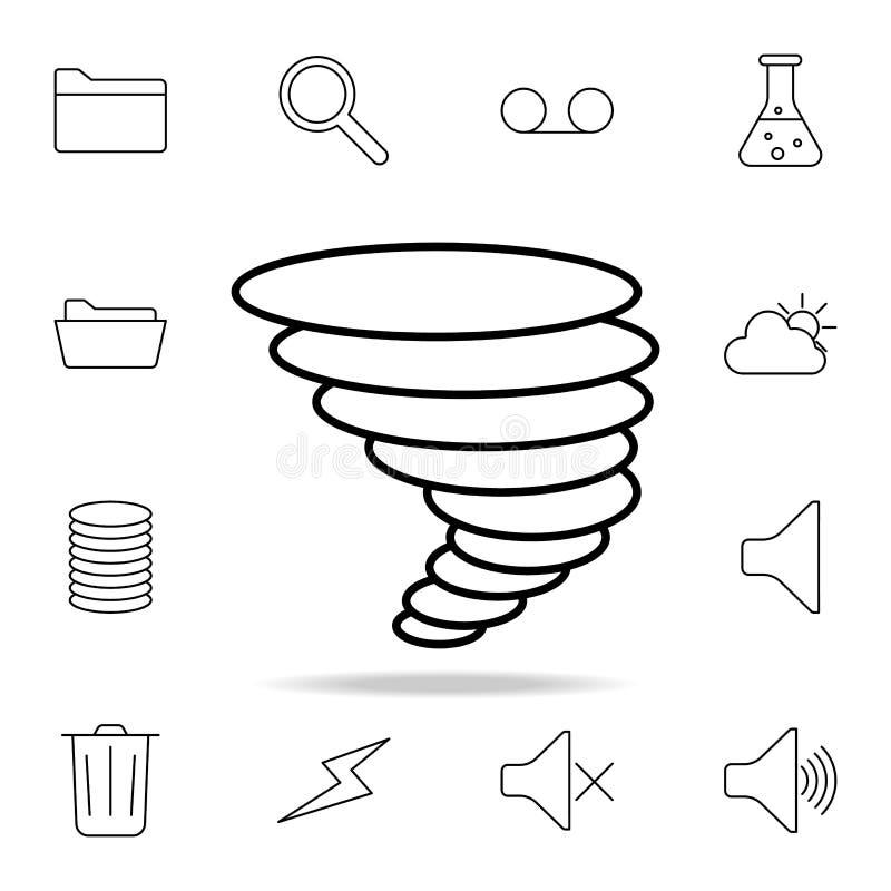 Orkansymbol Detaljerad uppsättning av enkla symboler Högvärdig grafisk design En av samlingssymbolerna för websites, rengöringsdu vektor illustrationer