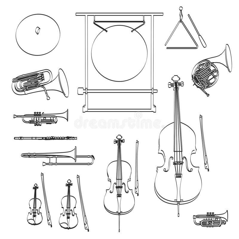 orkest royalty-vrije illustratie