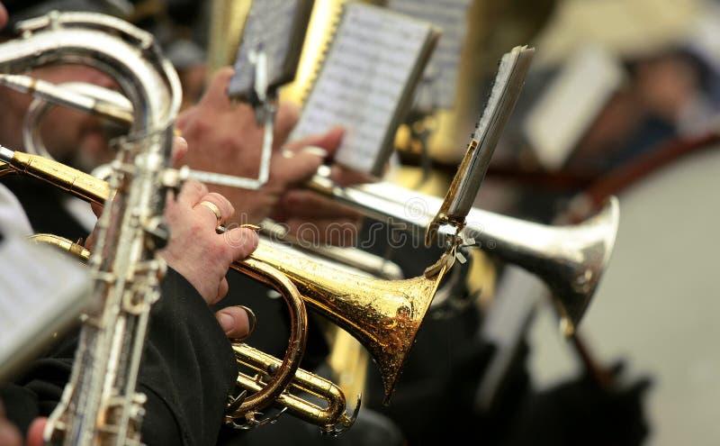 orkester arkivbild