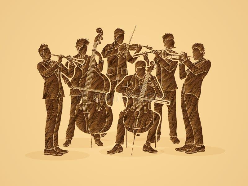 orkester royaltyfri illustrationer