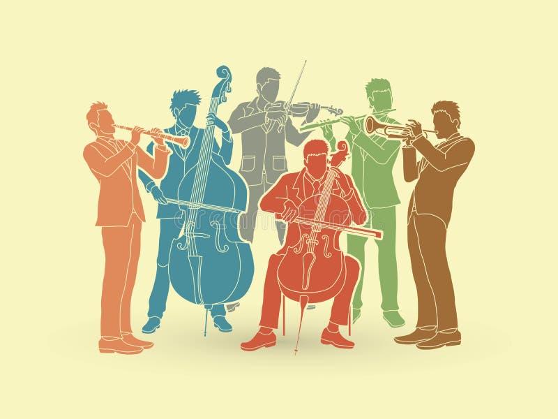 orkester stock illustrationer