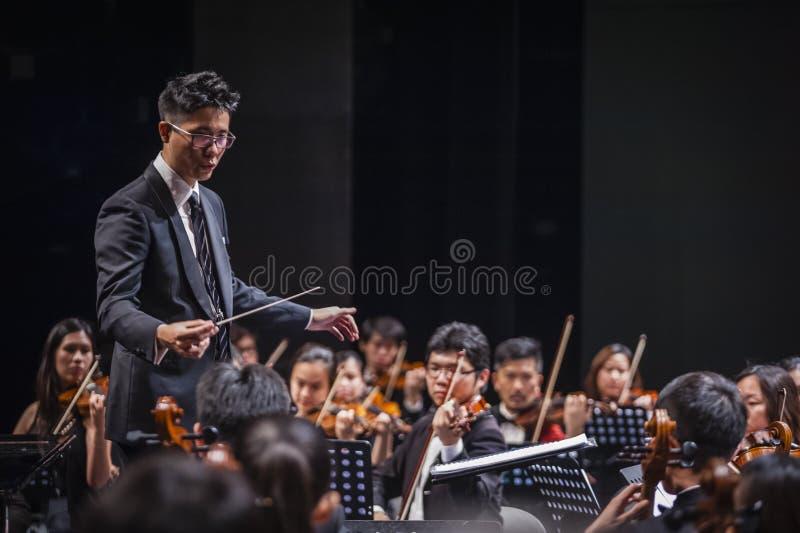 Orkesterledare royaltyfria foton