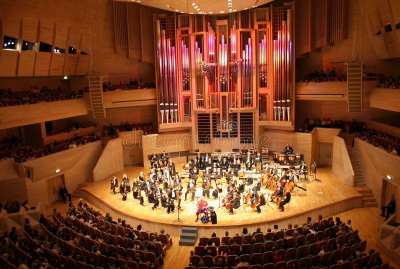 orkestersymfoni arkivbilder