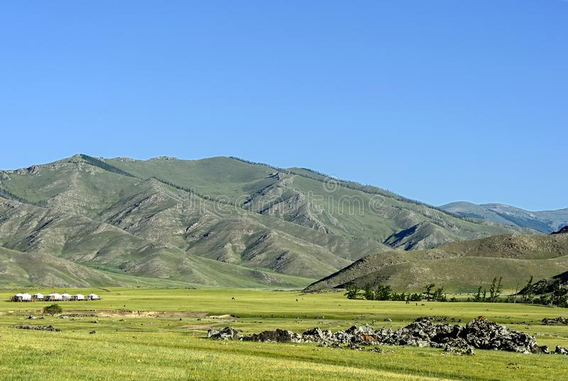 Orkhon谷的风景 免版税图库摄影
