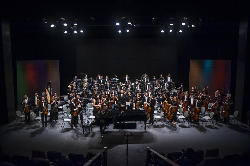 orkiestra fotografia royalty free