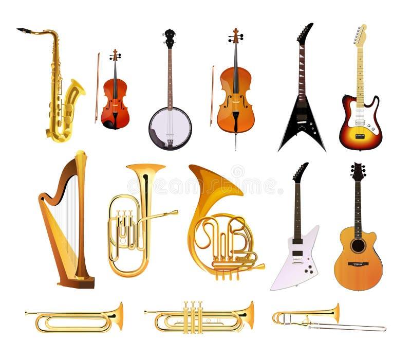 Orkiestra instrumenty muzyczni ilustracja wektor