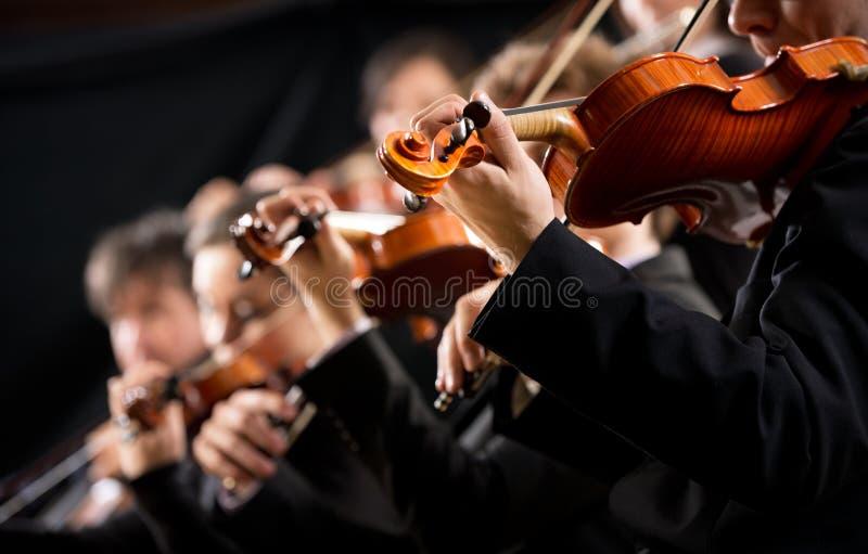Orkiestry pierwszy skrzypcowa sekcja fotografia stock