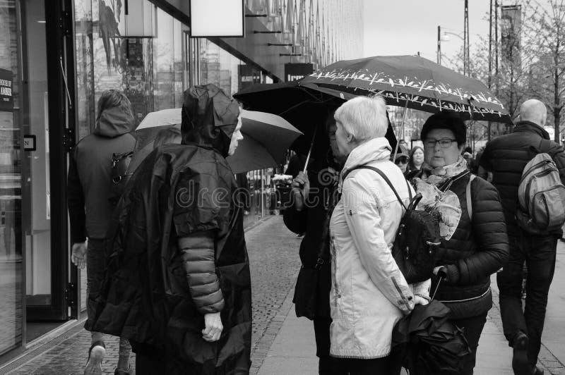 DAILY ORKING LIFE IN DANISH CAPITAL COPENHAGEN DENMARK stock photography