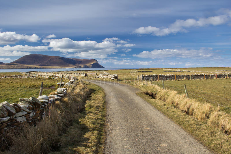 Orkney country lane royalty free stock photos