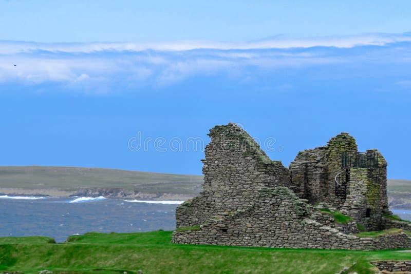 Orkney wyspy, Skara Brae Neolityczne ruiny obraz stock
