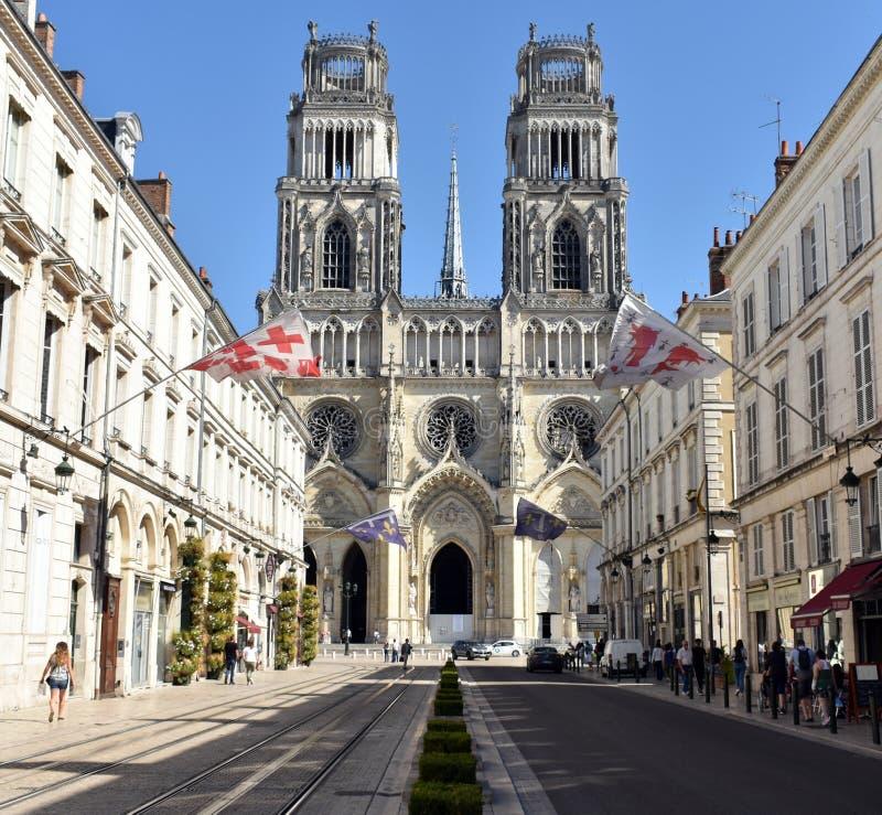 Orléans domkyrka - Orléans - Frankrike arkivfoton