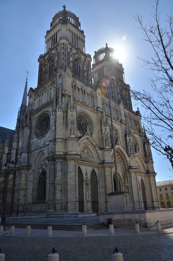 Orléans domkyrka royaltyfria bilder