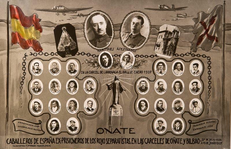 Orla del Oñate Carlists Guerra civile spagnola fotografie stock libere da diritti