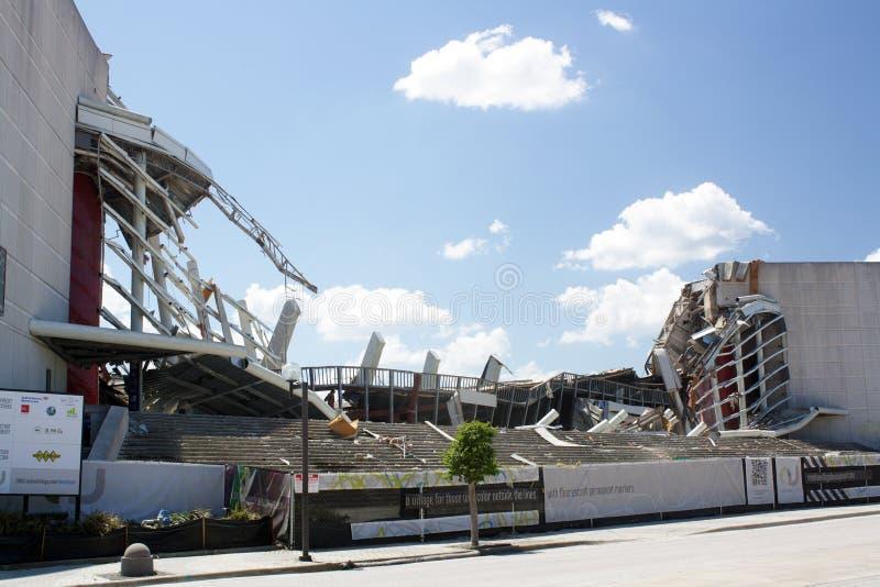 Orlando Amway Arena Demolition (26) stock images