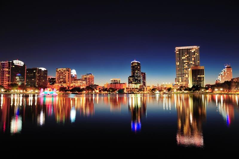 Orlando bij nacht royalty-vrije stock afbeeldingen