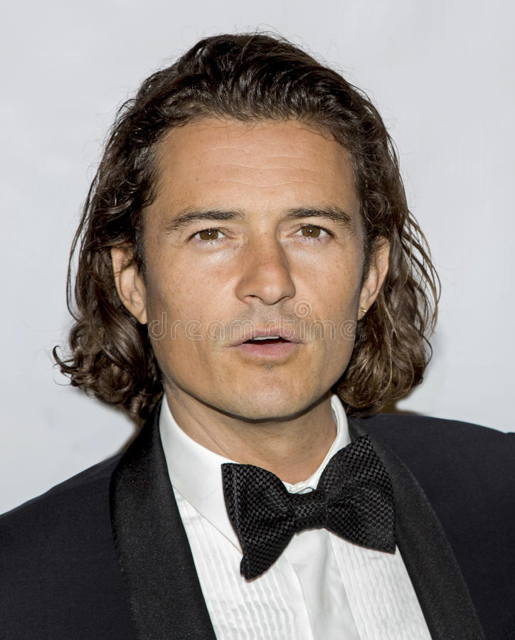 Orlando Bloom. English film actor Orlando Bloom arrives on the red carpet for the Friars Foundation gala at the Waldorf Astoria hotel in New York City on October royalty free stock image