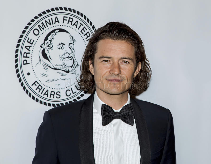 Orlando Bloom. English film actor Orlando Bloom arrives on the red carpet for the Friars Foundation gala at the Waldorf Astoria hotel in New York City on October stock photography