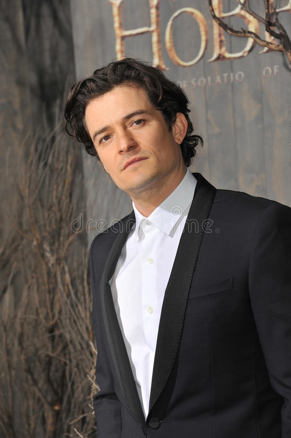 Orlando Bloom. LOS ANGELES, CA - DECEMBER 2, 2013: Orlando Bloom at the Los Angeles premiere of his movie The Hobbit: The Desolation of Smaug at the Dolby royalty free stock image