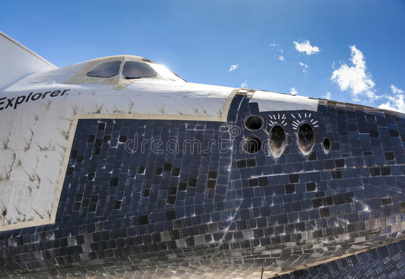 O explorador original OV100 do vaivém espacial no espaço Cente de Kennedy foto de stock royalty free